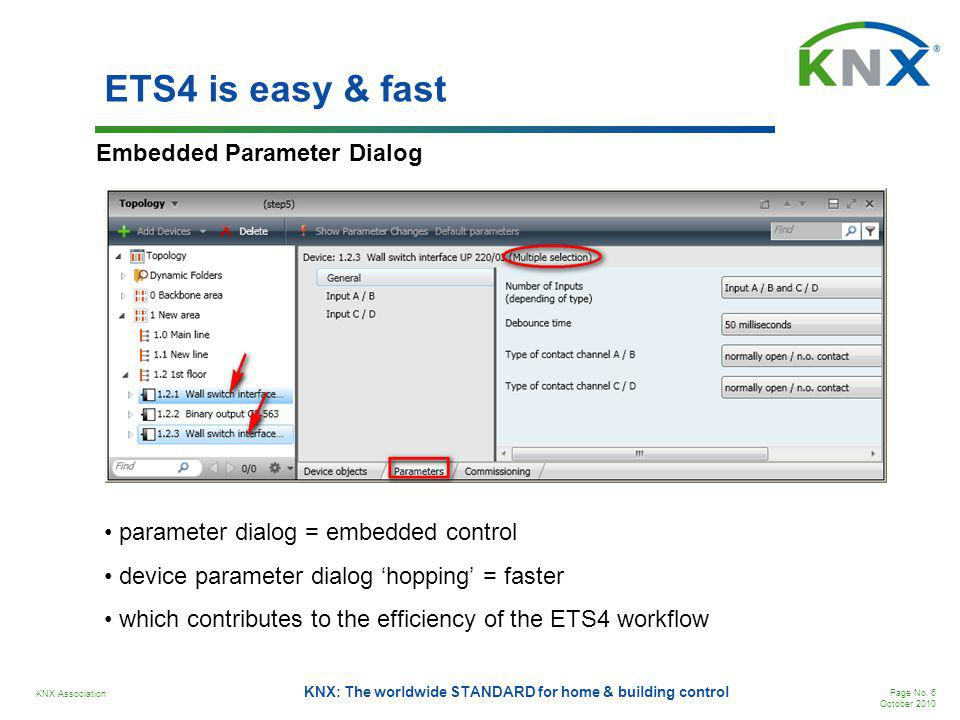 ETS4 is easy & fast Embedded Parameter Dialog