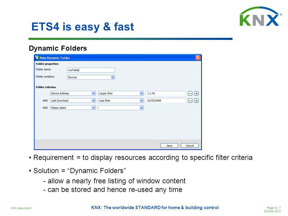 ETS4 is easy & fast Dynamic Folders
