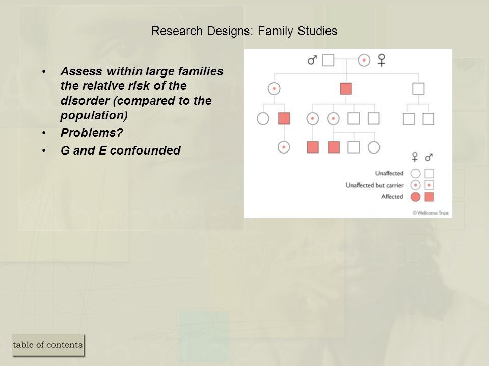 Research Designs: Family Studies