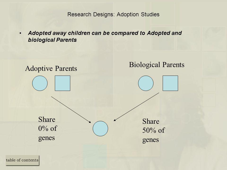 Research Designs: Adoption Studies