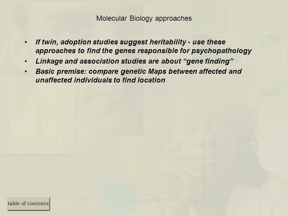 Molecular Biology approaches