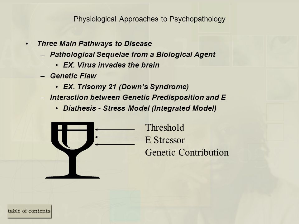 Physiological Approaches to Psychopathology