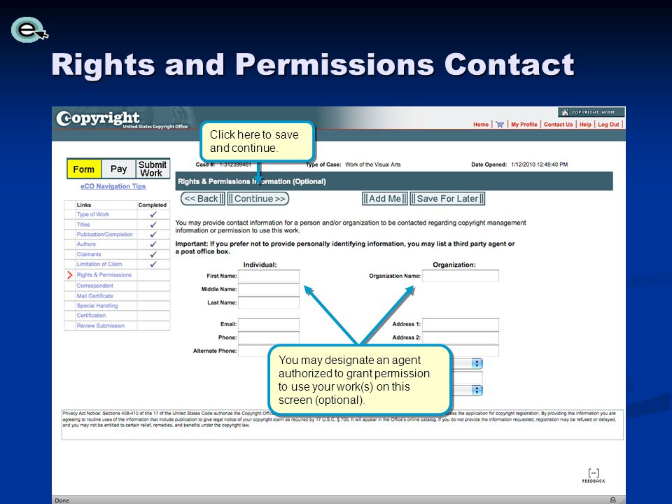 Rights and Permissions Contact