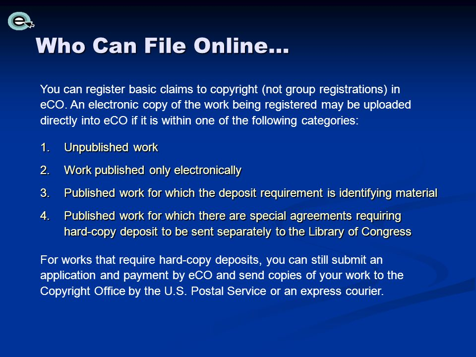 Who Can File Online…