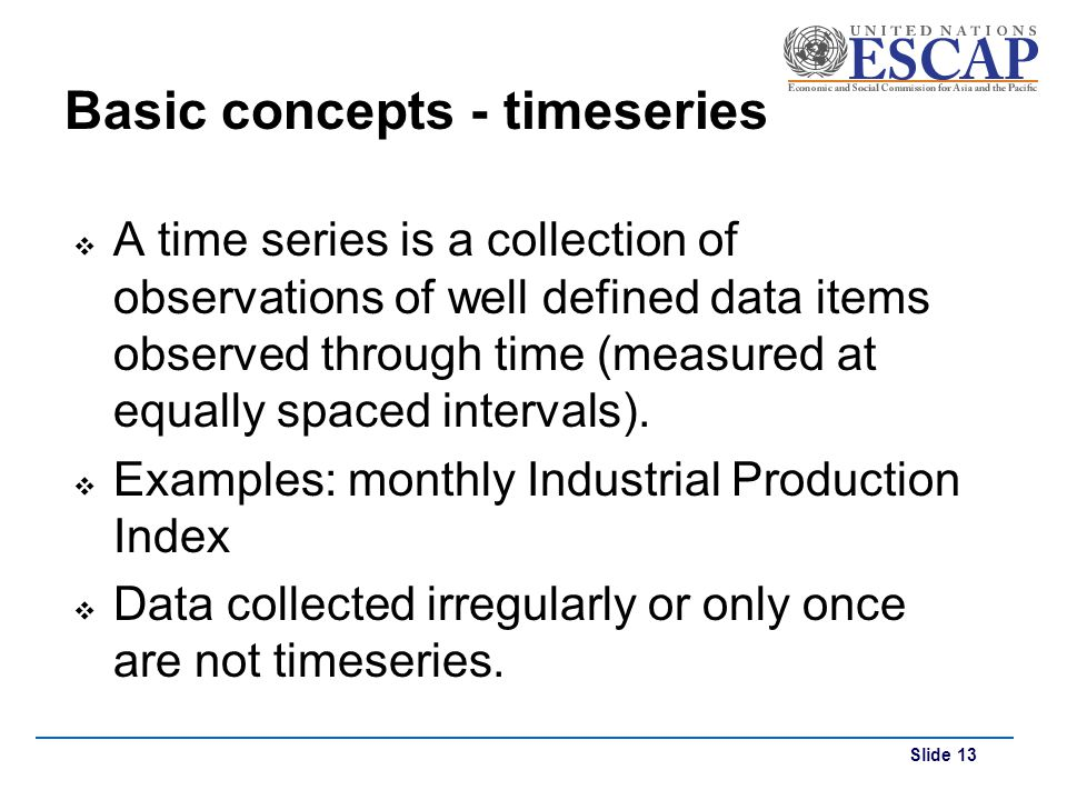 Basic concepts - timeseries