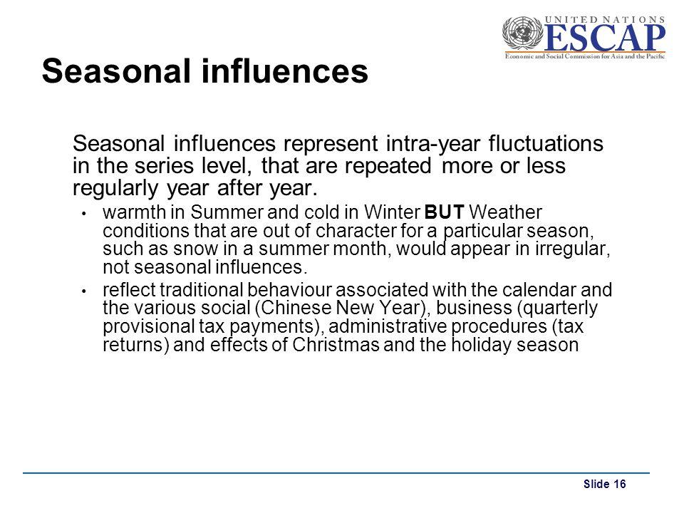 Seasonal influences