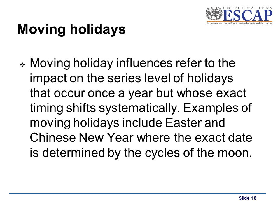 Moving holidays