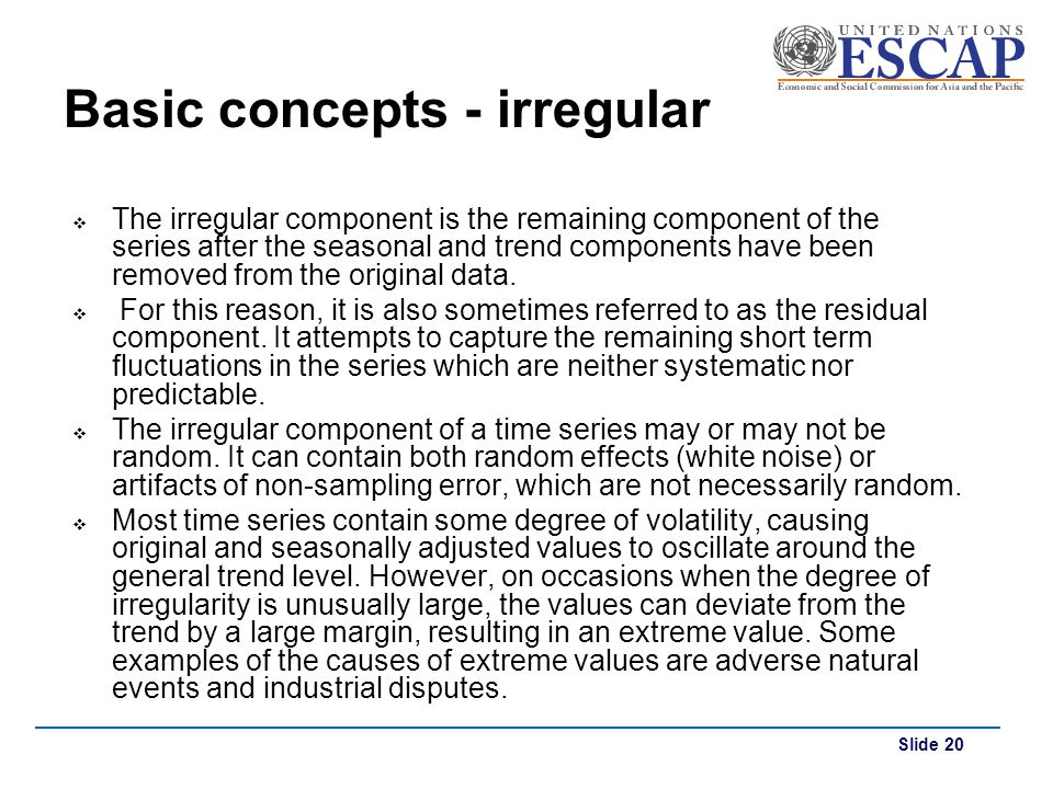 Basic concepts - irregular