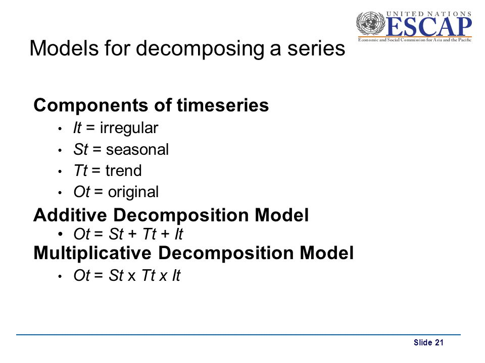 Models for decomposing a series