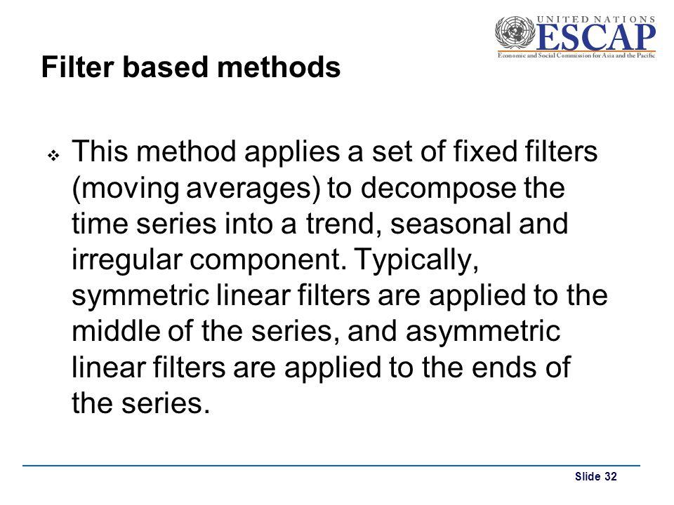 Filter based methods