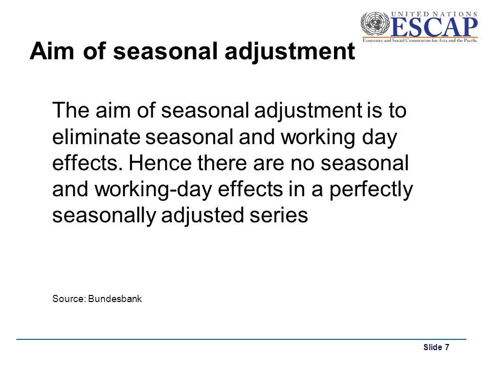 Aim of seasonal adjustment