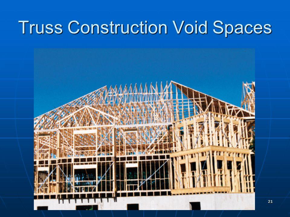 Truss Construction Void Spaces