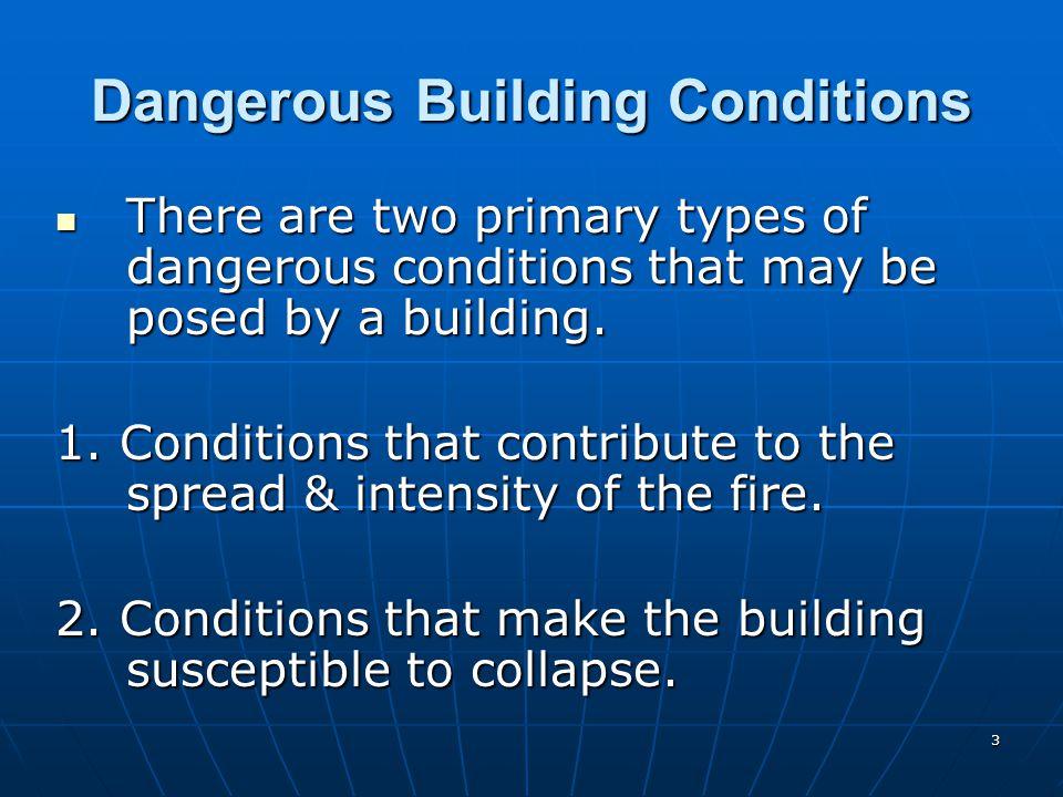 Dangerous Building Conditions