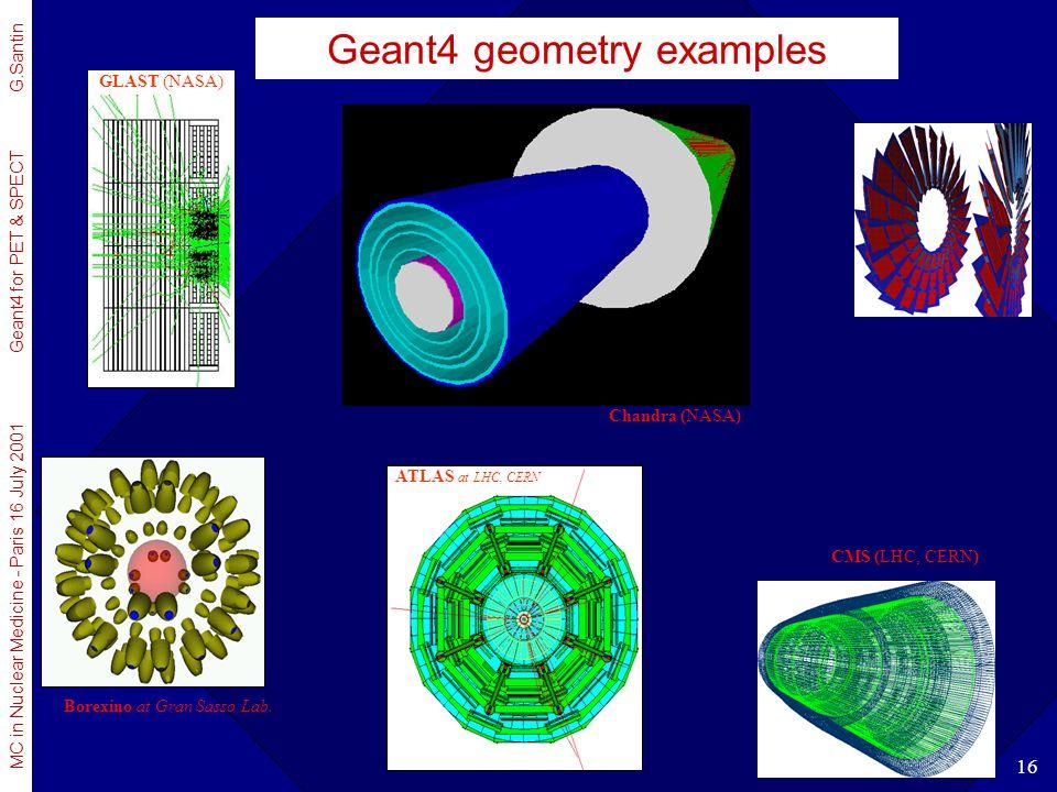 Geant4 geometry examples