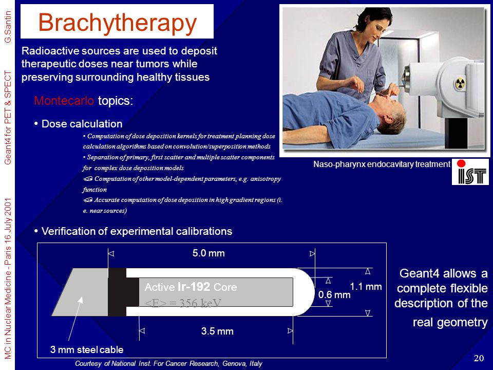 Brachytherapy Montecarlo topics: Dose calculation