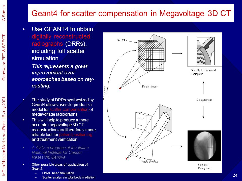 Geant4 for scatter compensation in Megavoltage 3D CT