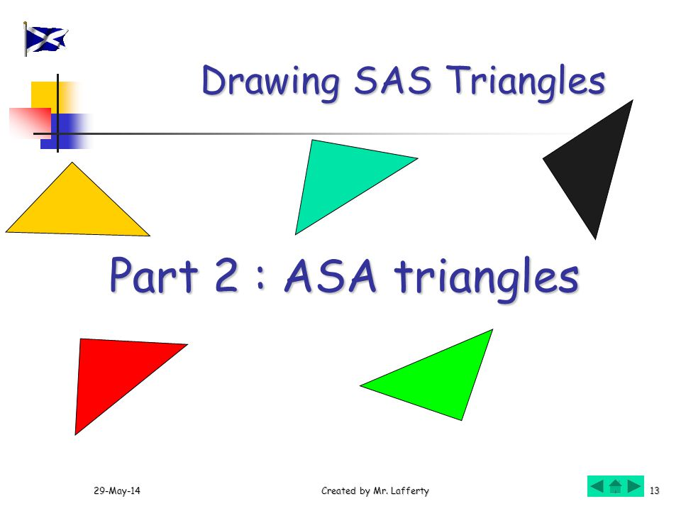 Part 2 : ASA triangles Drawing SAS Triangles 31-Mar-17