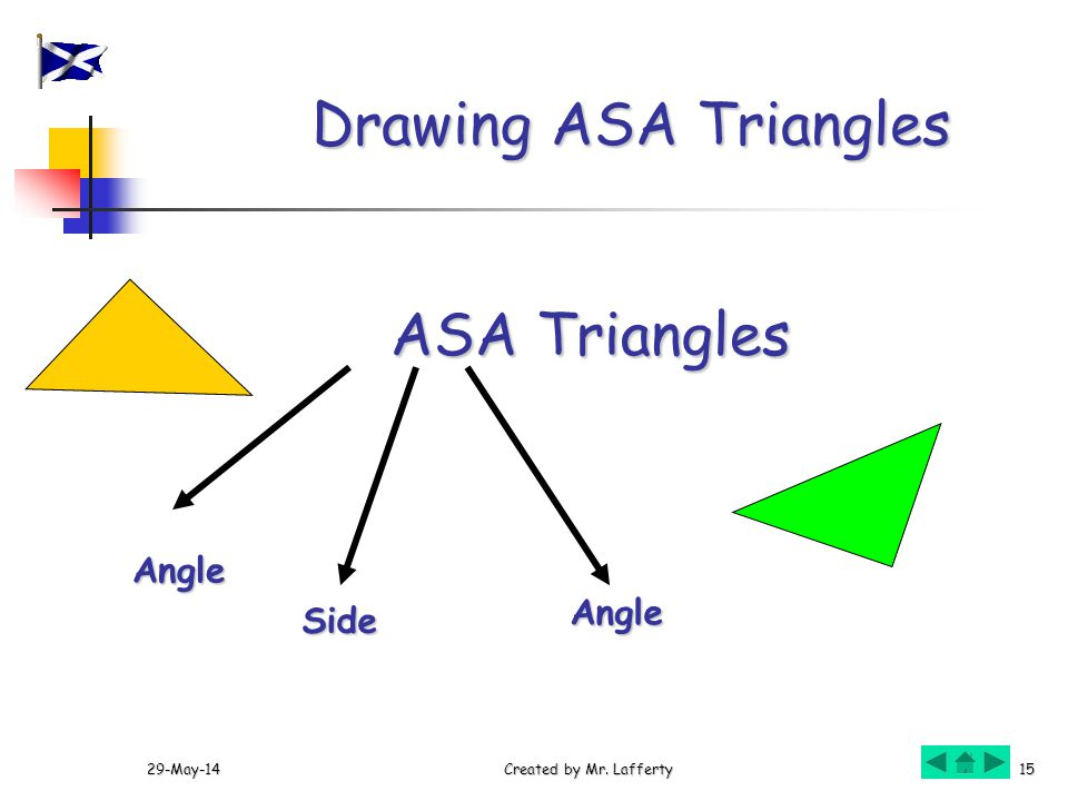 Drawing ASA Triangles ASA Triangles Angle Angle Side 31-Mar-17