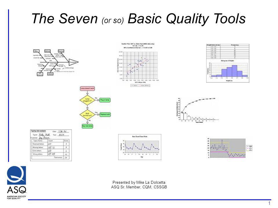 The Seven (or so) Basic Quality Tools