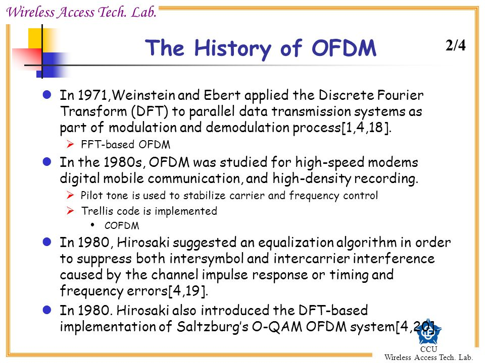 The History of OFDM 2/4.