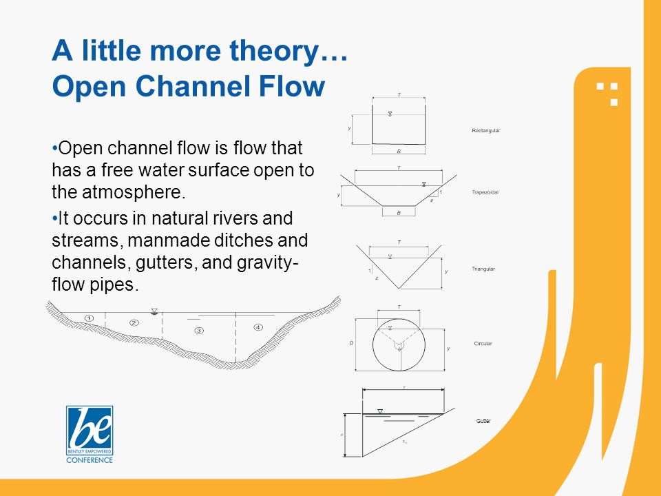 A little more theory… Open Channel Flow