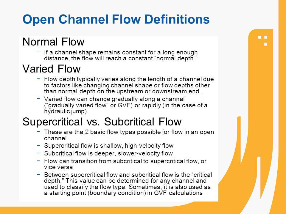 Open Channel Flow Definitions