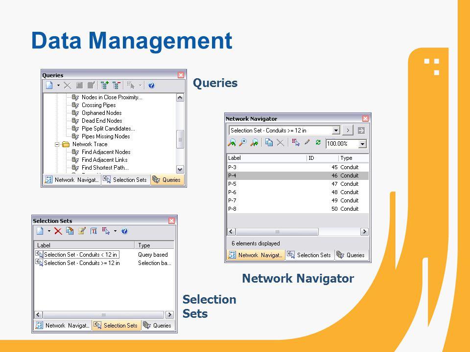 Data Management Queries Network Navigator Selection Sets