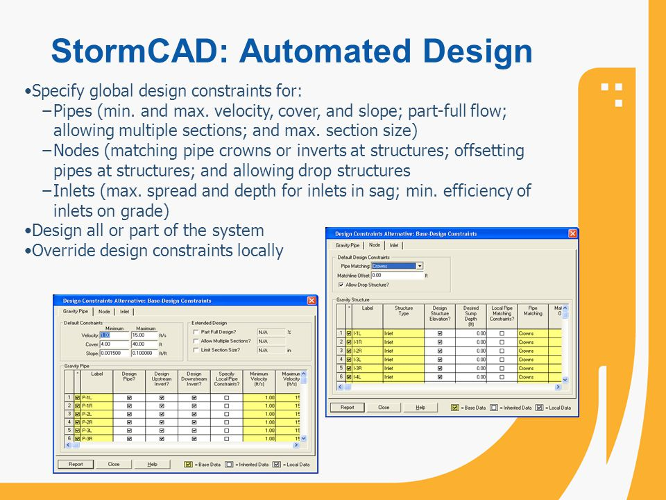 StormCAD: Automated Design