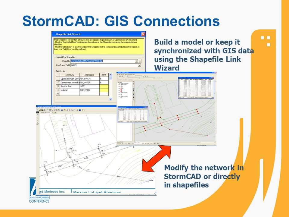 StormCAD: GIS Connections