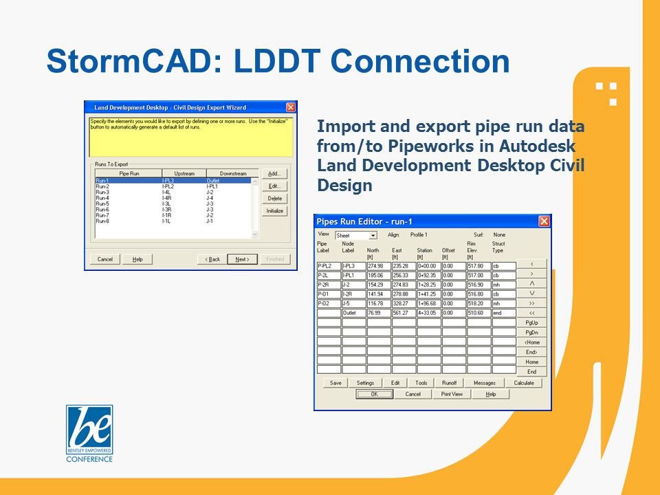 StormCAD: LDDT Connection
