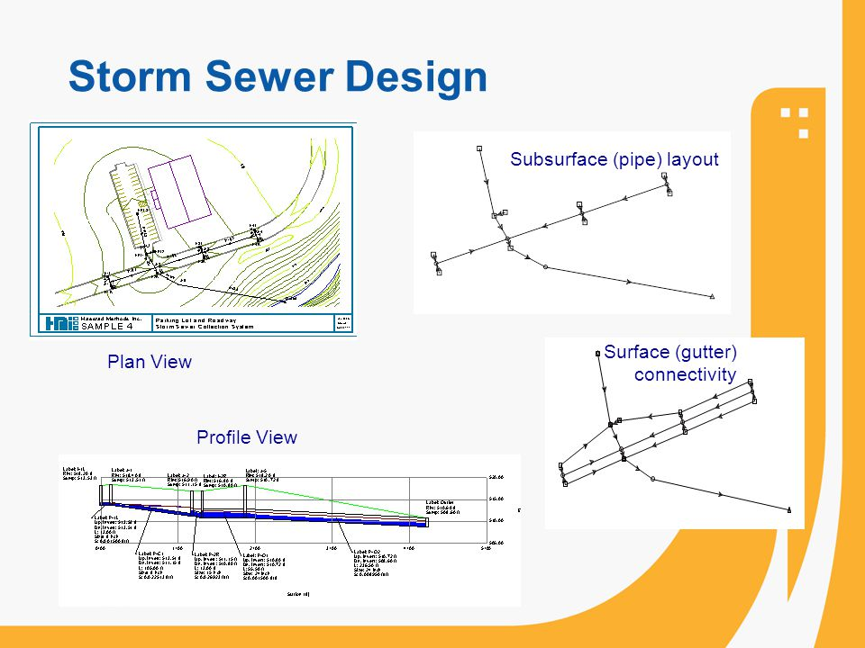 Storm Sewer Design Subsurface (pipe) layout