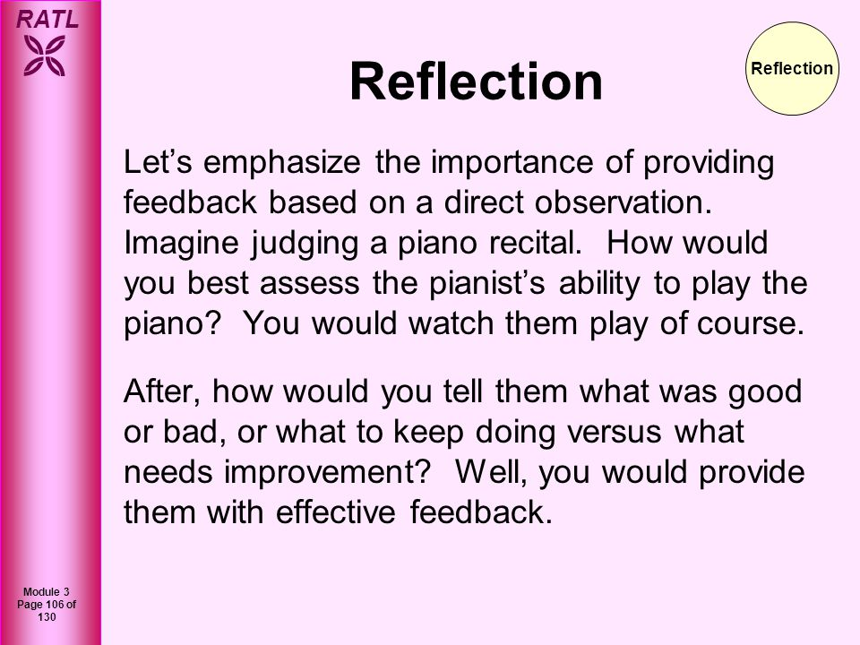 Reflection Reflection.
