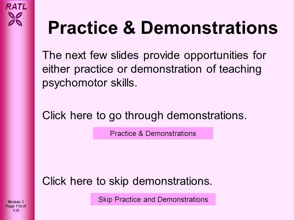 Practice & Demonstrations
