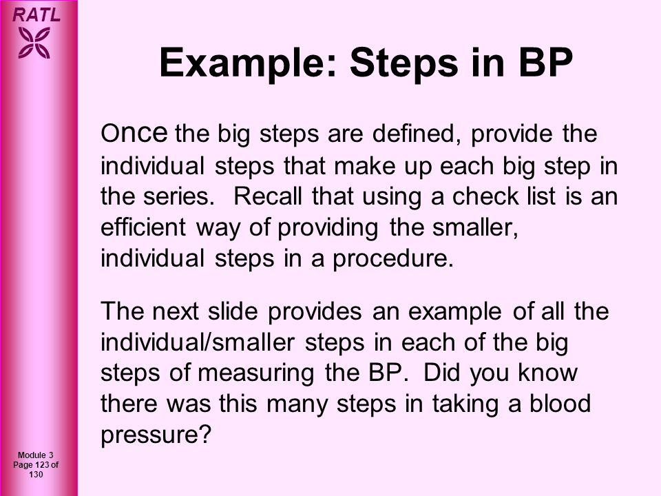 Example: Steps in BP