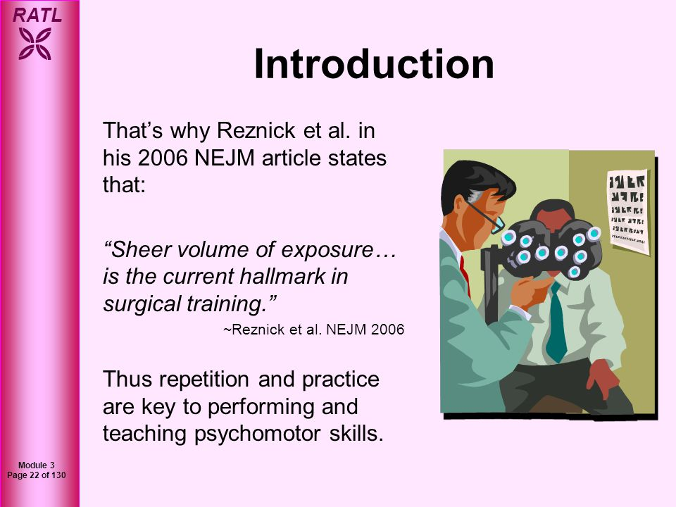 Introduction That's why Reznick et al. in his 2006 NEJM article states that:
