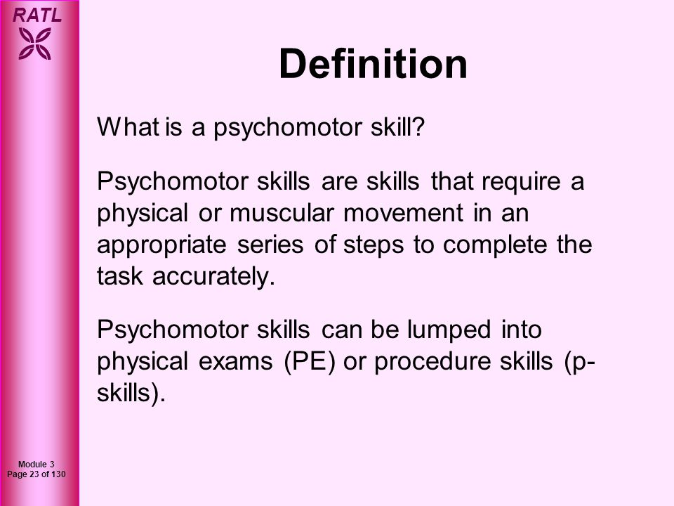 Definition What is a psychomotor skill