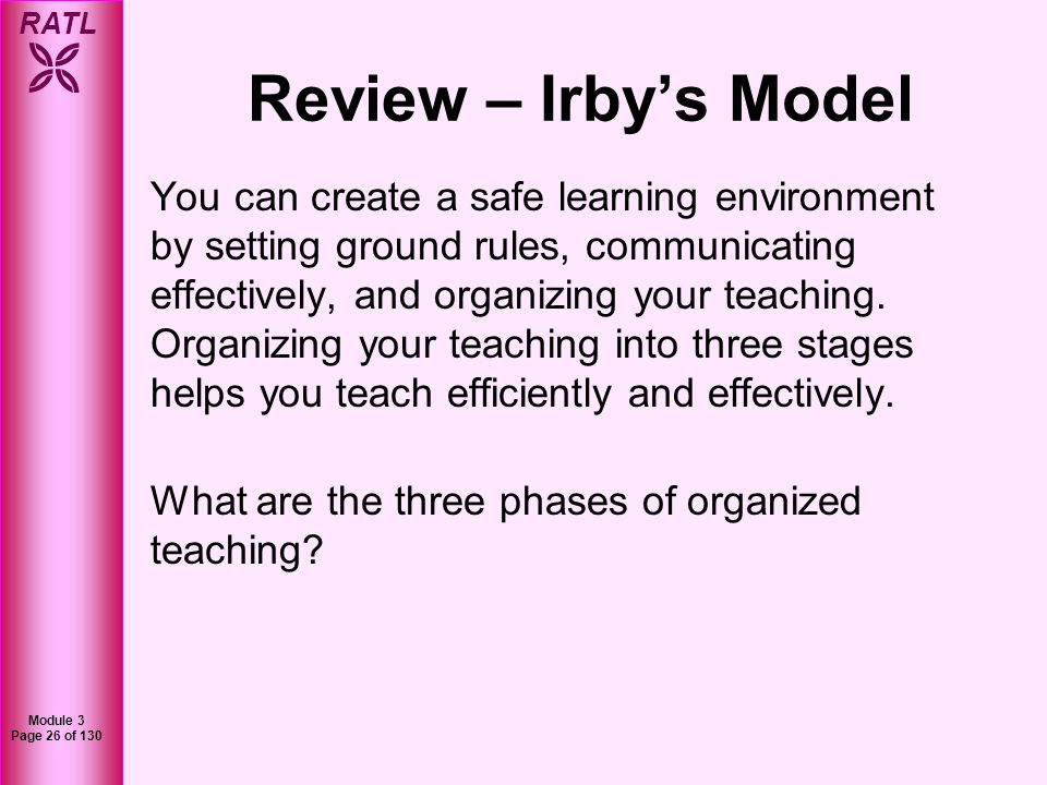 Review – Irby's Model