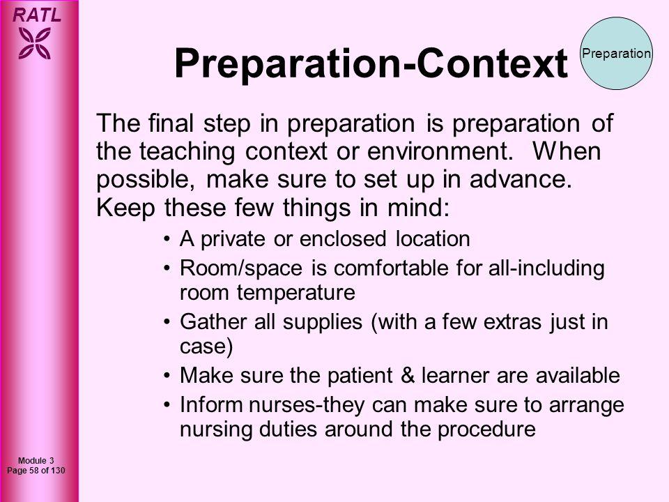 Preparation-Context Preparation.