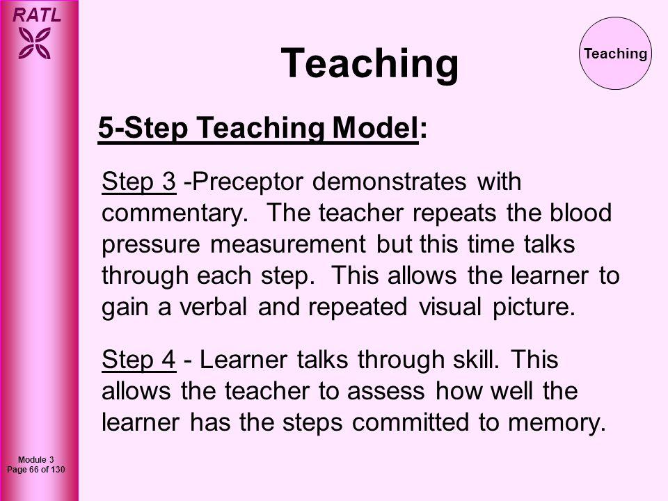 Teaching 5-Step Teaching Model: