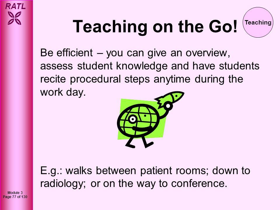 Teaching on the Go! Teaching.