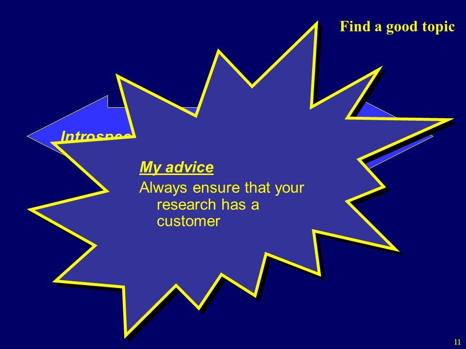 Introspective Customer-oriented