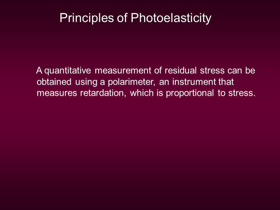 Principles of Photoelasticity