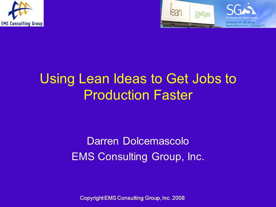 using lean ideas to get jobs to production faster ppt