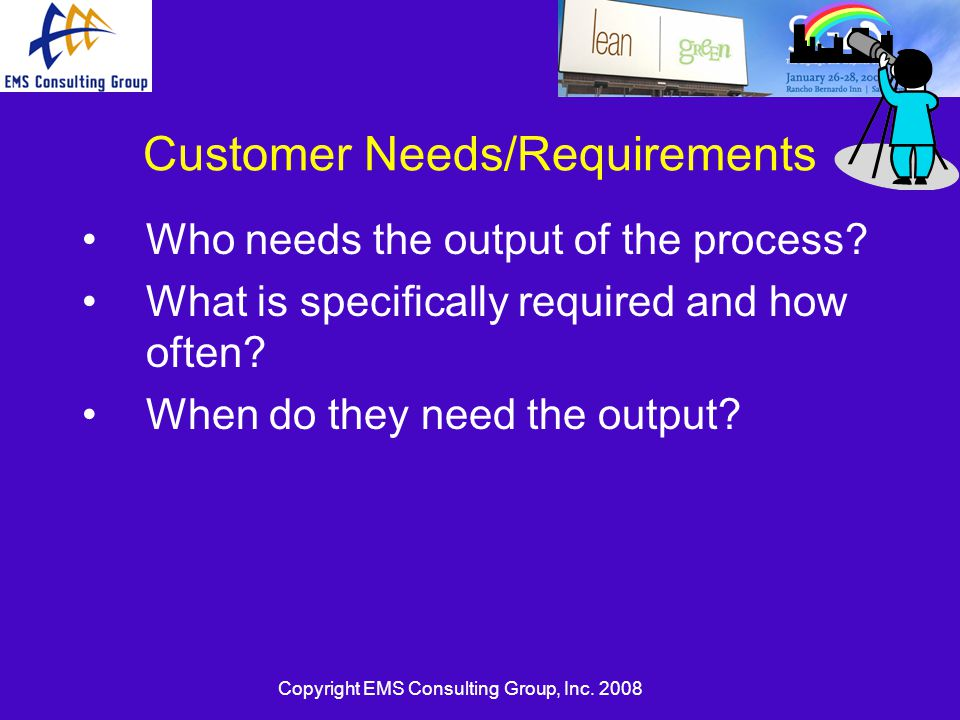 Customer Needs/Requirements