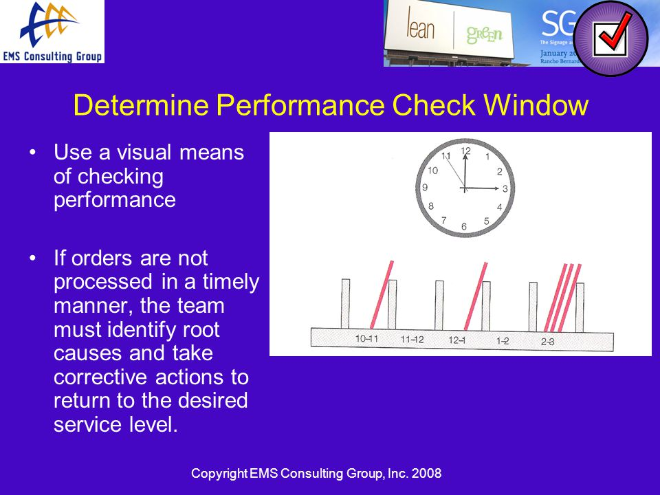 Determine Performance Check Window