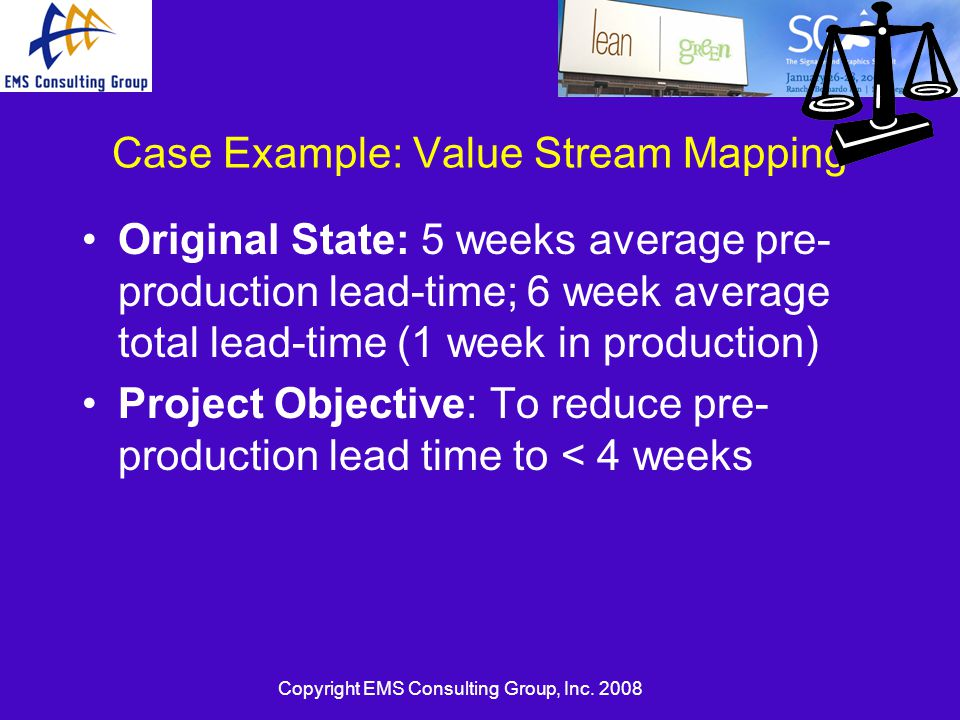 Case Example: Value Stream Mapping