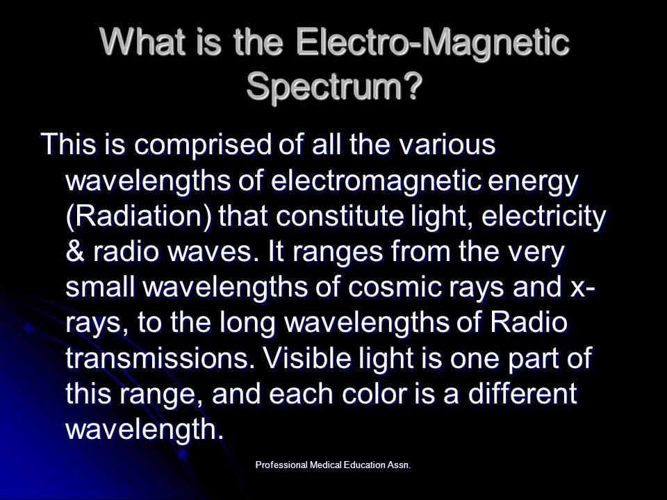 What is the Electro-Magnetic Spectrum