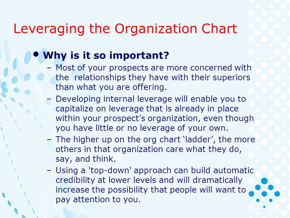 Leveraging the Organization Chart