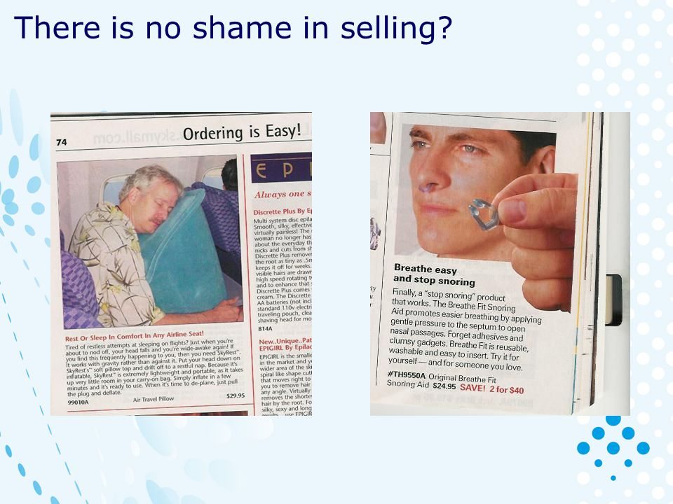 There is no shame in selling