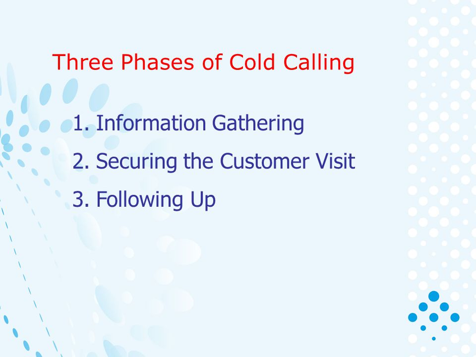 Three Phases of Cold Calling